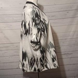 Calvin Klein Tops - Calvin Klein Ikat 1/2 zip blouse size 2x